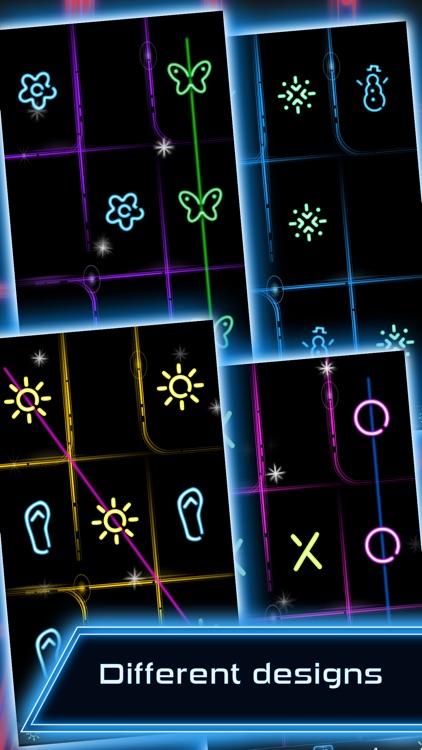 Tic Tac Toe Glow FREE screenshot-3