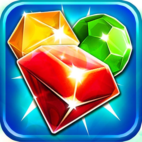 Jewel's Jam Match-3 - diamond game and candy digger's saga hd free