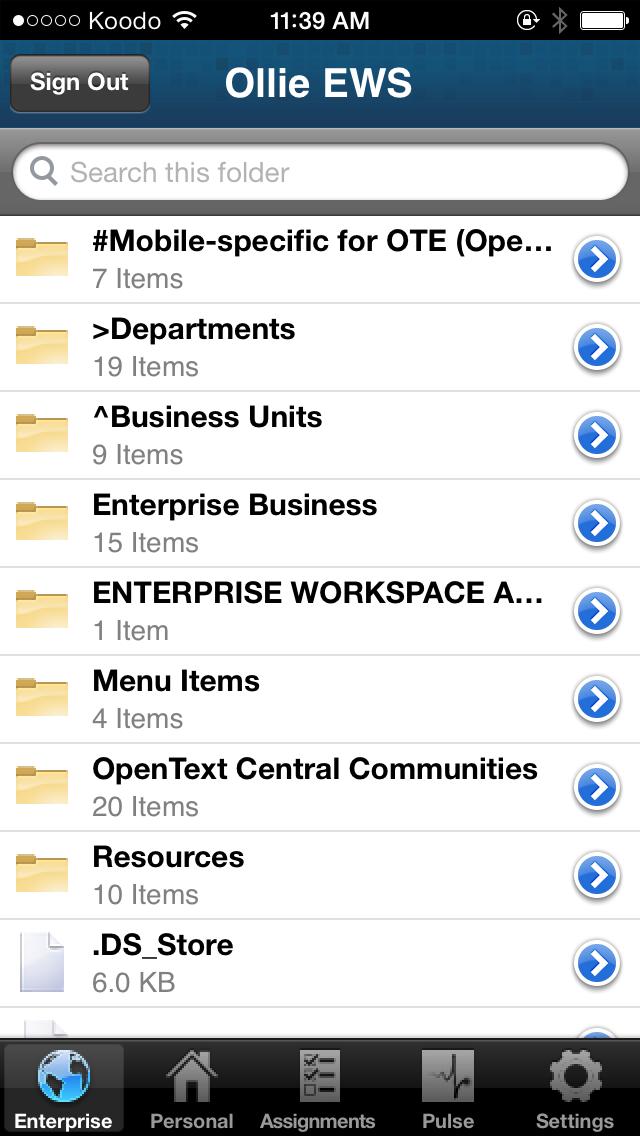 OpenText Everywhere screenshot two