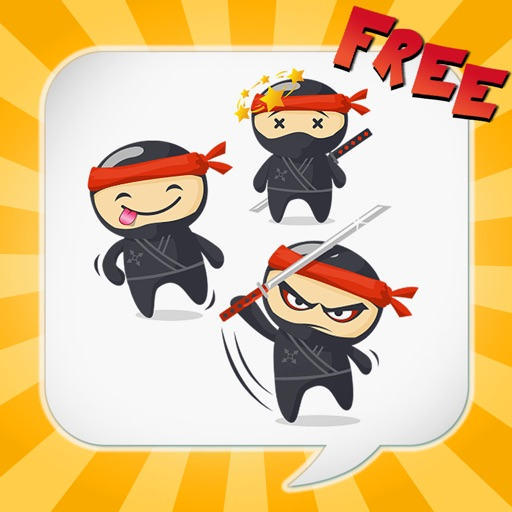NinjaEmoji Free: Send Ninja Themed Emoticons for Text + Messages