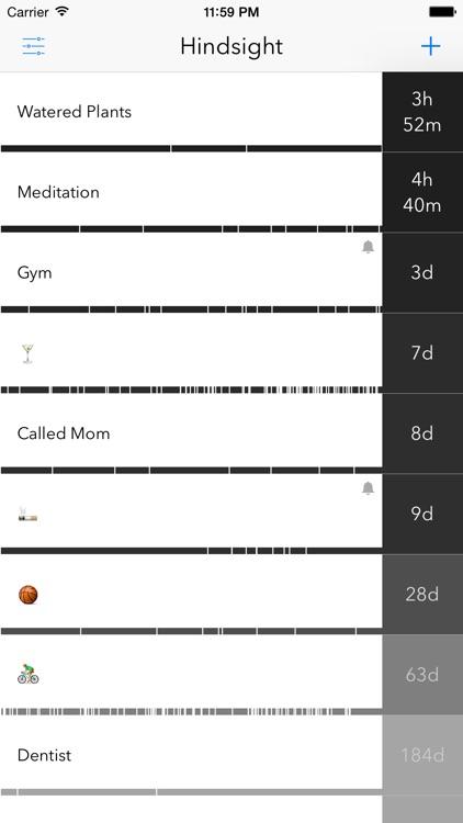 Hindsight - Time Interval & History Tracker screenshot-0