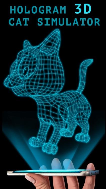Hologram 3D Cat Simulator
