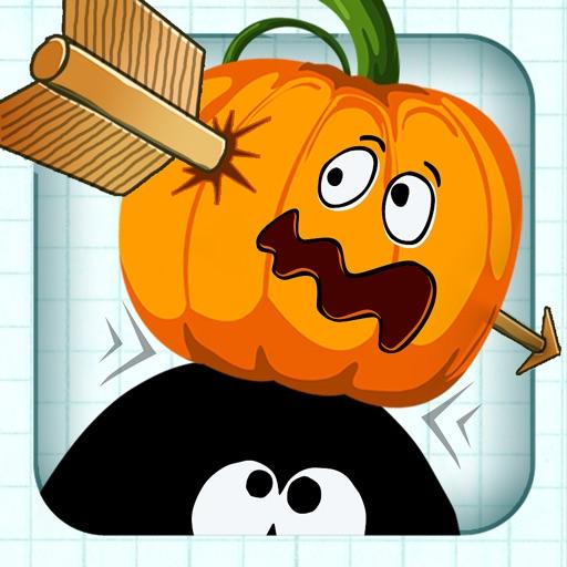 Игры стрелялки - бесплатные игры - Лук и стрелы охоты для iPhone и IPad (Stickman Pumpkin Shooting Bow and Arrow)