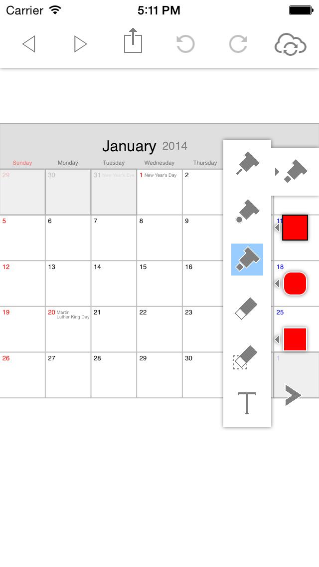 ポリカレンダー 2014 - スケジュールと手書き -のスクリーンショット4