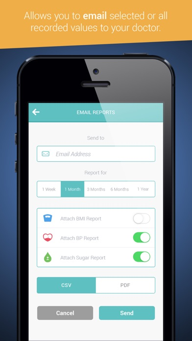 Health Tracker & Manager for iPhone - Personal Healthbook App for Tracking Blood Pressure BP, Glucose & Weight BMIのおすすめ画像3
