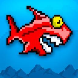 A Flappy Mega Shark FREE: Eats Tiny Bird Fish Adventure