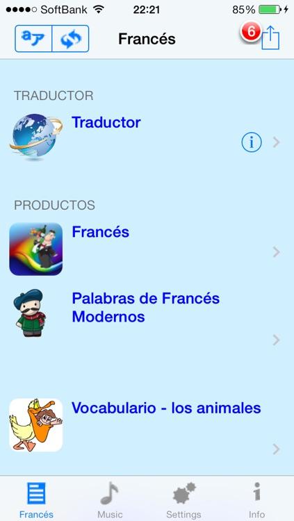 Francés - Talking Spanish to French Translator and Phrasebook screenshot-3