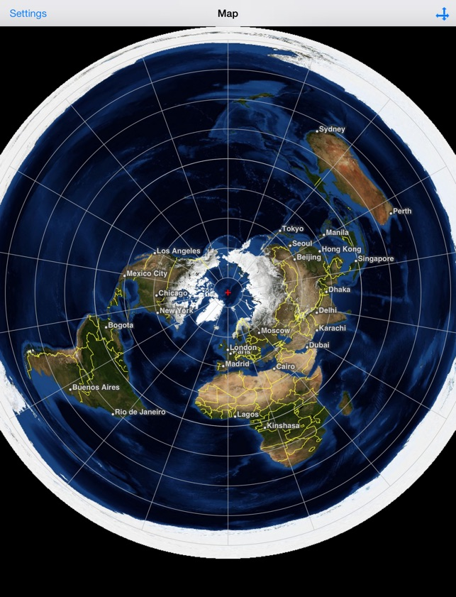 iPad Screenshots Flat Earth HD Satellite