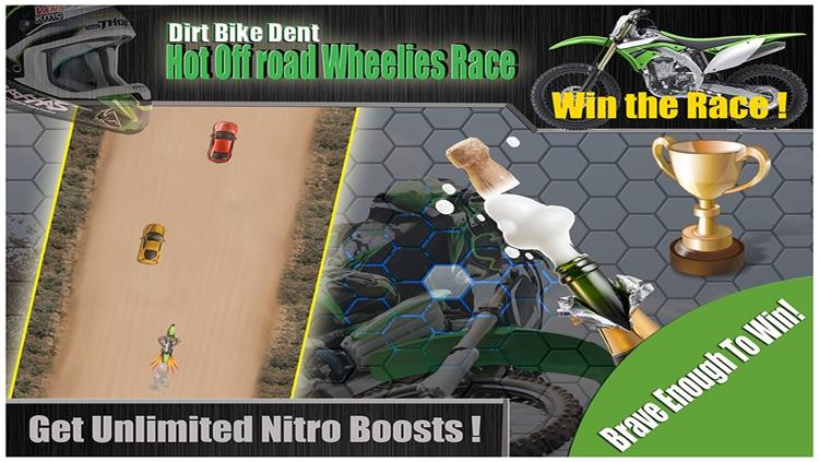 Dirt Bike Metal Dent - Hot Off road Wheelies TR Race