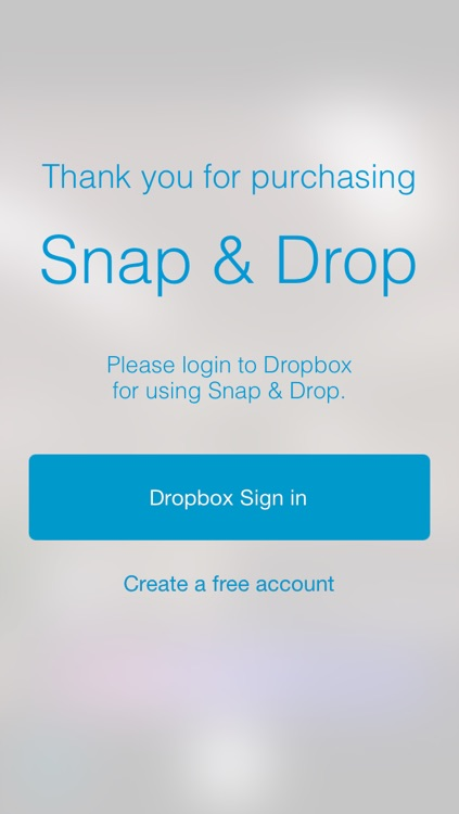 Snap & Drop - Camera that allows one to upload photos into Dropbox quickly
