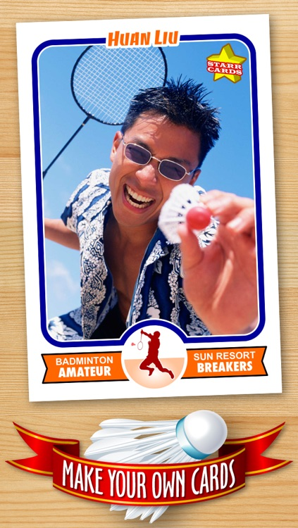 Badminton Card Maker - Make Your Own Custom Badminton Cards with Starr Cards