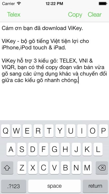 ViKey - Bộ gõ tiếng Việt - TELEX, VNI, VIQR - Vietnamese keyboard screenshot-3