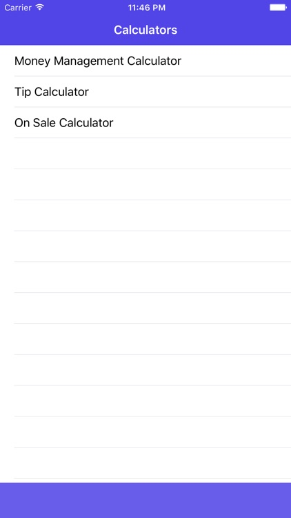 Money Mgt Calculator