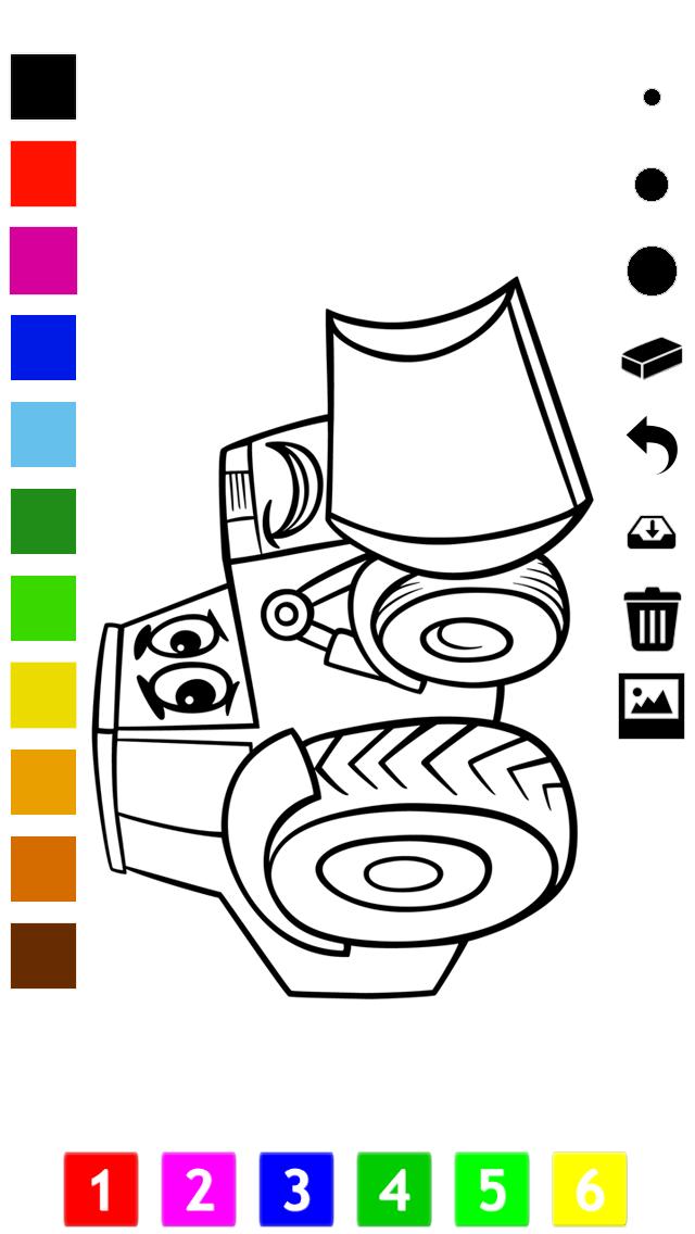 塗り絵の本 子供のための車:レーシングカー、バス、トラクター、トラックなどのような多くの写真とともに。絵を描画する方法:学習するゲームのおすすめ画像2