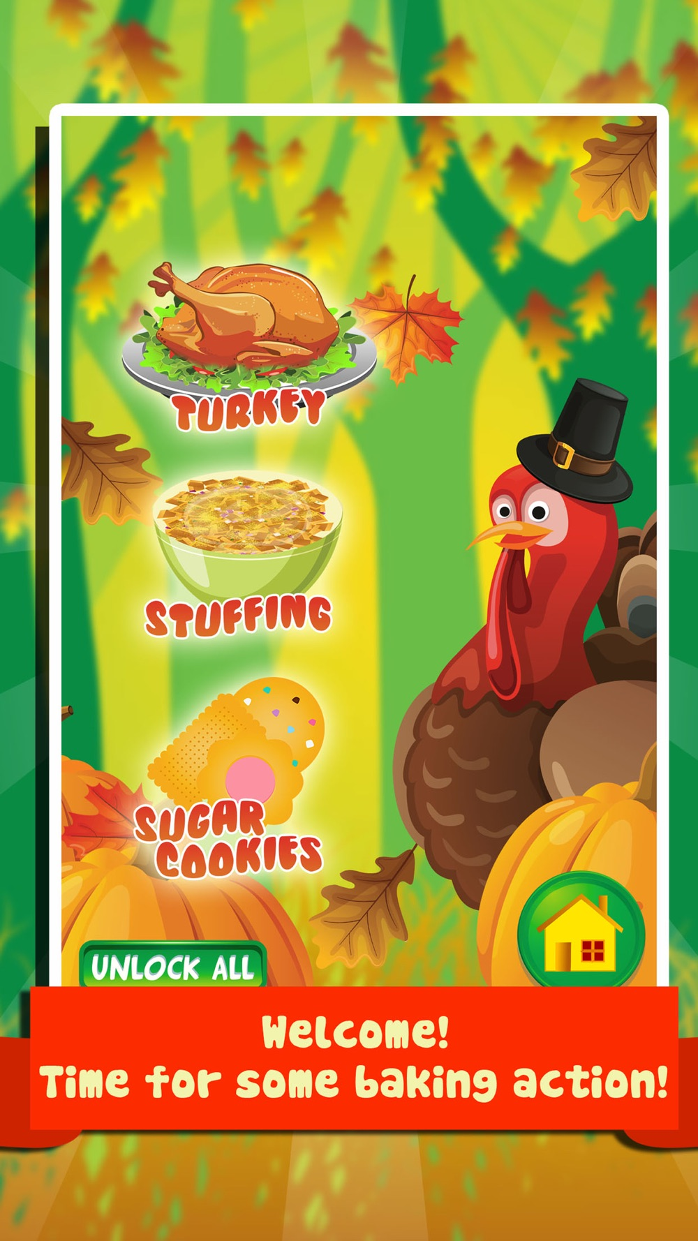 Thanksgiving Dinner Food Maker Salon – fun lunch cooking & making games for kids 2 (boys & girls) Cheat Codes