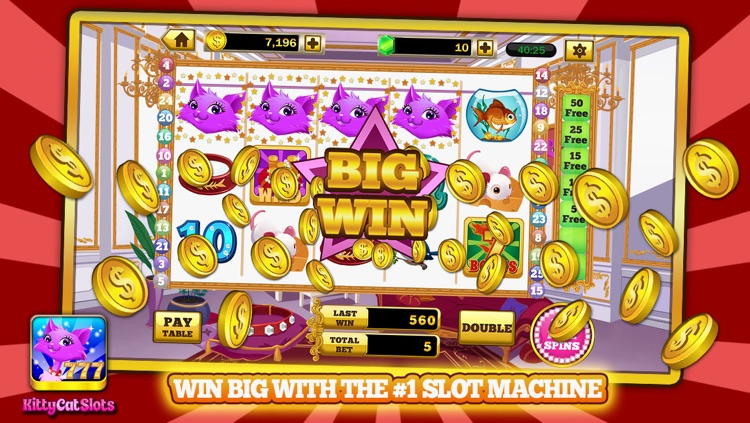 Kitty Cat Slots™ – FREE Premium Casino Slot Machine Game screenshot-2