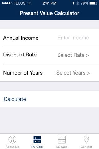 Henderson Present Value Calculator screenshot 4
