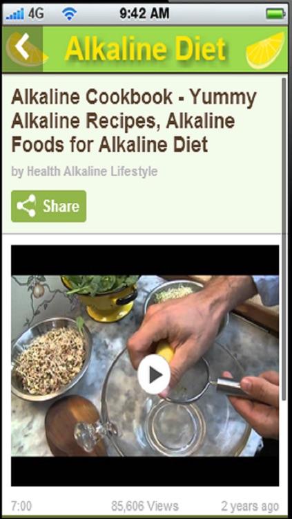 Alkaline Diet App:Also known as the alkaline ash diet and acid diet+