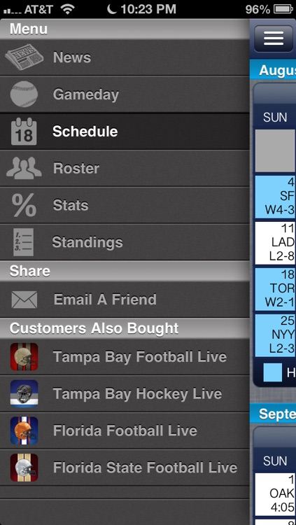 Tampa Bay Baseball Live screenshot-2