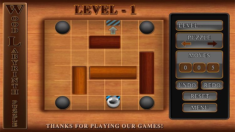 Wood Labyrinth Infinity Puzzle : The Silver Ball Traffic