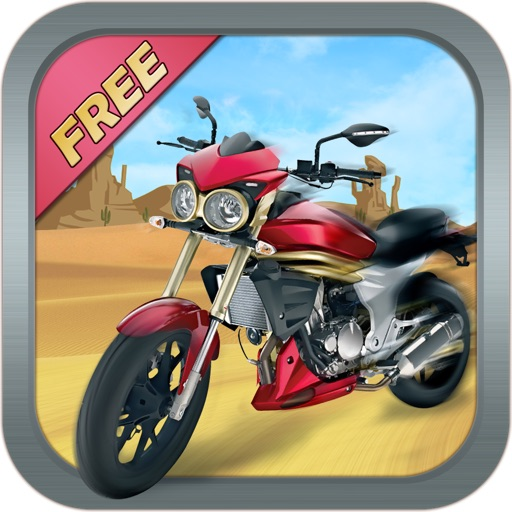 Desert Motor Bike FREE - Motorcycle Racing in Death Valley! icon