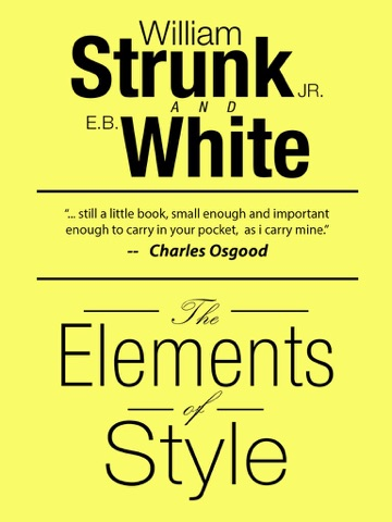 Screenshot of The Elements of Style, Fourth Edition By William Strunk, Jr.