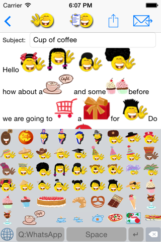 sMaily  the funny smiley icon email app and keyboard for whatsapp screenshot 2