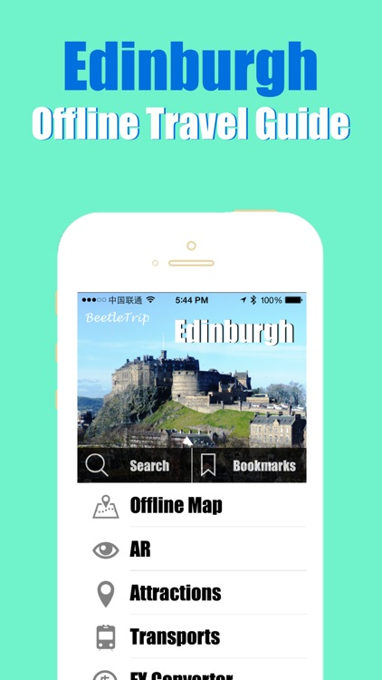 Edinburgh travel guide and offline city map, Beetletrip Augmented Reality Scotland Metro Train and Walks