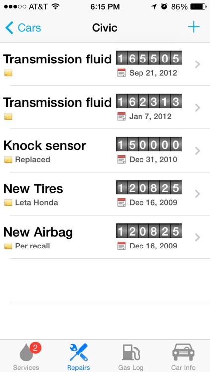 Car Minder Plus - Car Maintenance and Gas Log (MPG) screenshot-3
