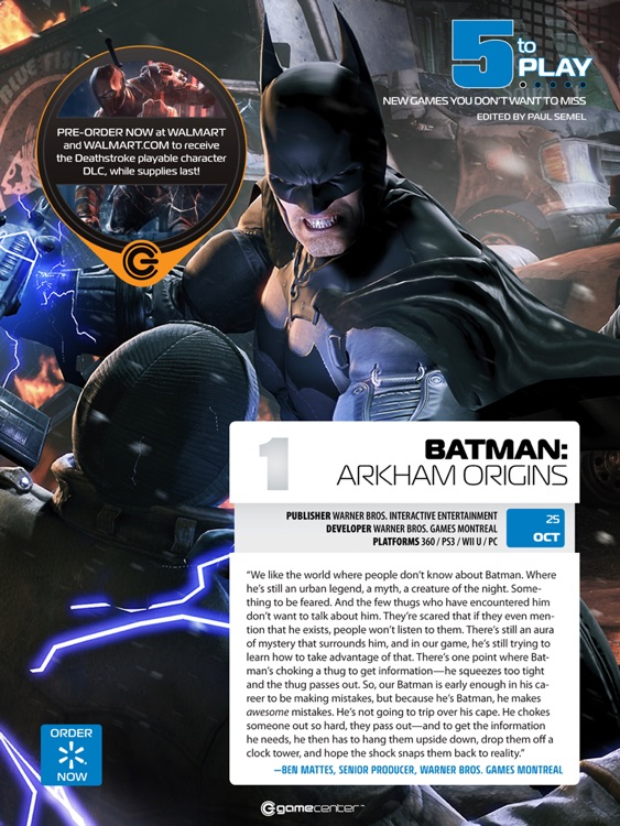 Walmart GameCenter Magazine