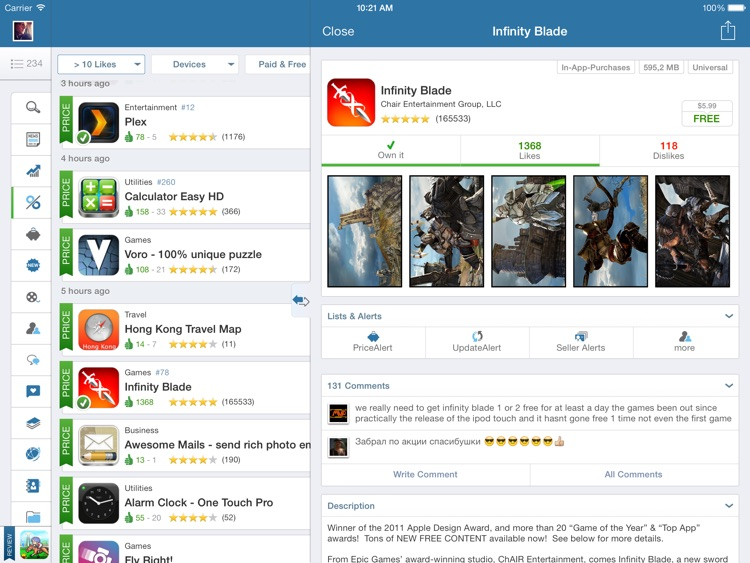 AppZapp HD - daily new Apps, best hot deals & free Apps