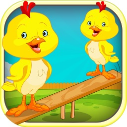 An Easter Chicken Seesaw for Kids - Awesome Marshmallow Peep Catch