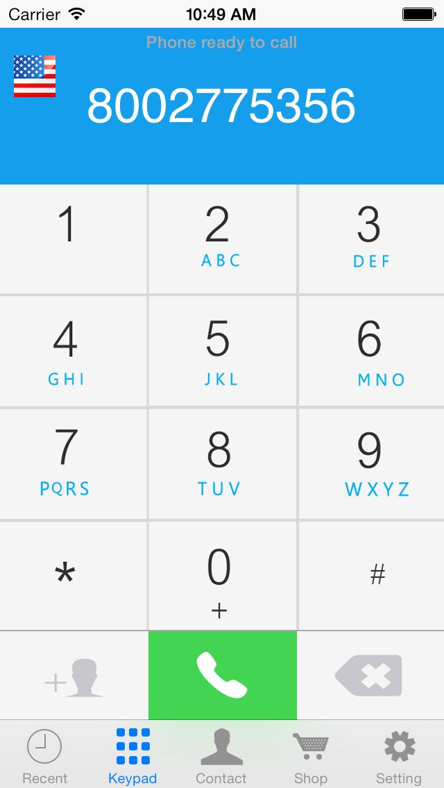 CallTime - Cheap US & Canada Phone Callのスクリーンショット1