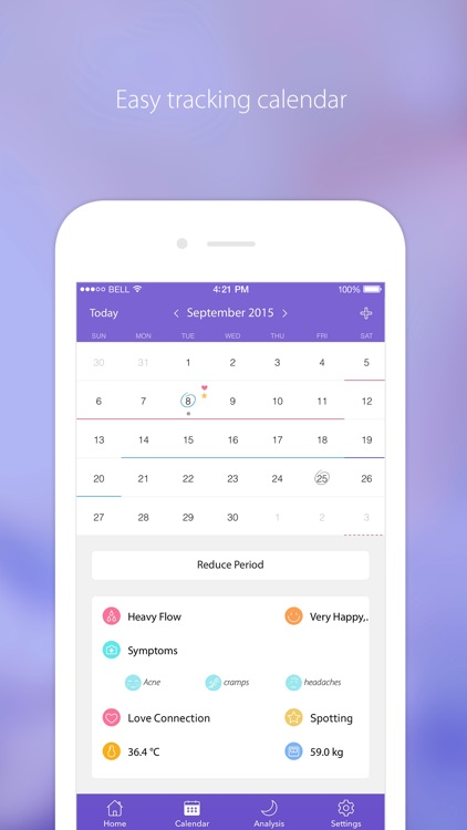 Period Tracker - Menstrual & Ovulation Calendar screenshot-1