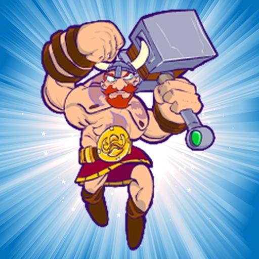Варвар воин против зомби обороны Закон ТД - Викинг короля Легенда молот бога Тора башня обороны