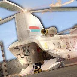 Real car transporter cargo helicopter simulator