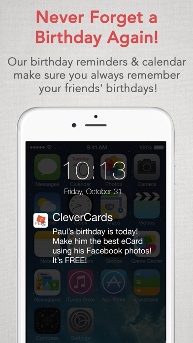 CleverCards Greeting Cards ECards For Facebook