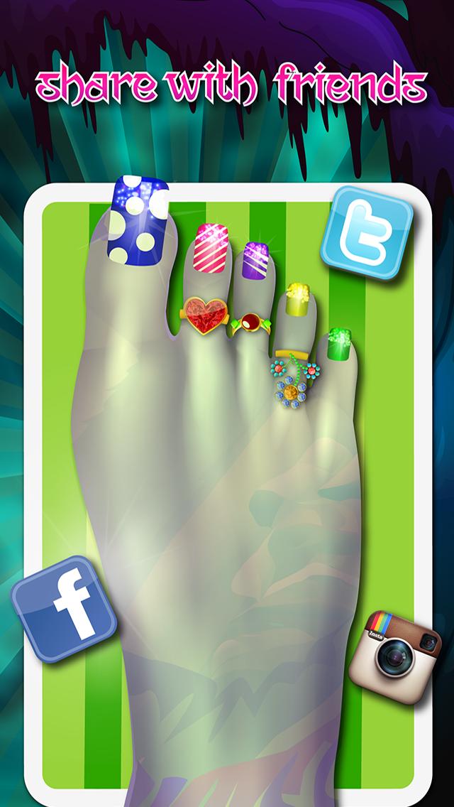 """セレブフットスパ - """"楽しい無料キッズゲーム」とは、モンスターネイルデザインのおすすめ画像3"""