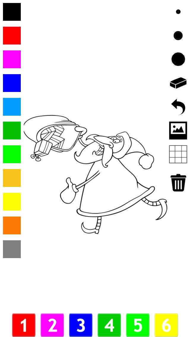 塗り絵の本 子供のためのクリスマスのサンタクロース、雪だるま、エルフや贈り物のような多くの写真とともに。絵を描画する方法:学ぶためのゲームのおすすめ画像4