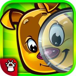 Найди и покажи животное ― прятки с Рексом – развивающая игра для малышей
