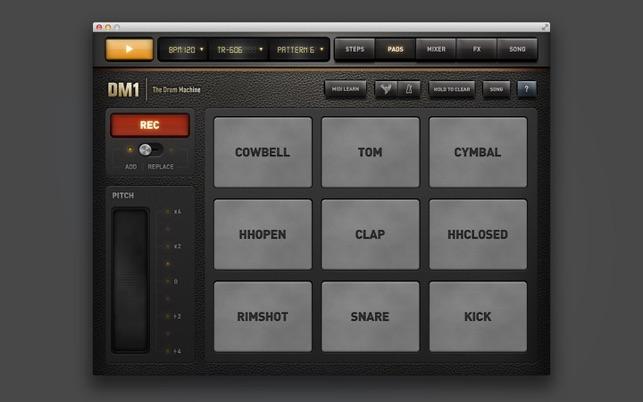 dm1 the drum machine 2 0 1 cmacapps. Black Bedroom Furniture Sets. Home Design Ideas