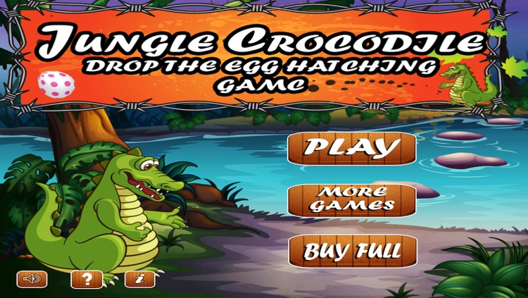 A Jungle Crocodile Drop the Egg Hatching game screenshot-4