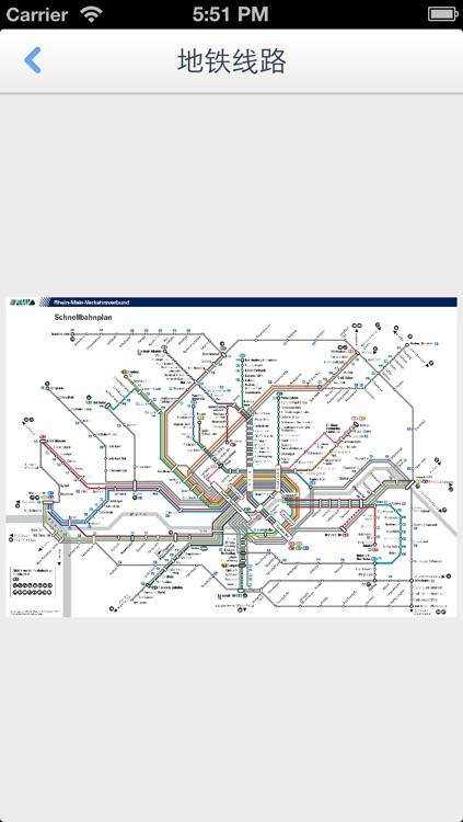 Frankfurt Offline Map(offline map, subway map, GPS, tourist attractions information) screenshot-4