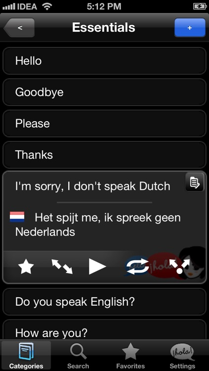 Lingopal Dutch LITE - talking phrasebook
