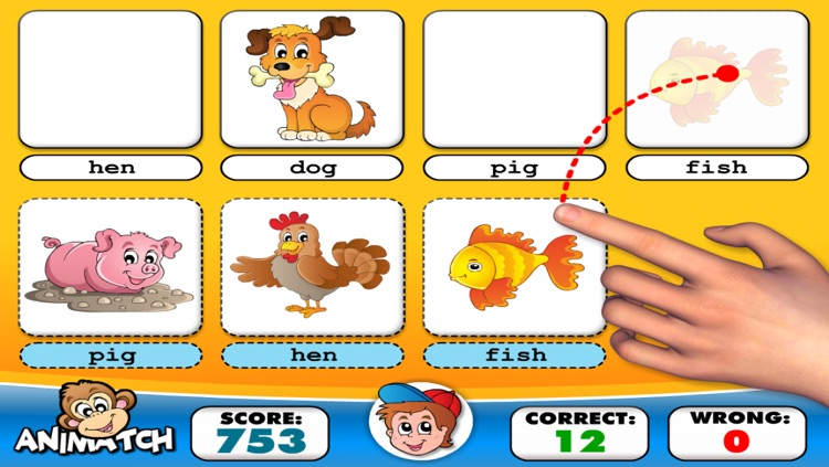 Kindergarten Reading, Tracing and Spelling • Learn to Read First Words School Adventure: Animals A to Z - Phonics, Letters Quiz Recognition and Alphabet Learning Puzzles Games for Curious Kids (K, Toddlers, Preschool Girls and Boys) by Abby Monkey® screenshot-3