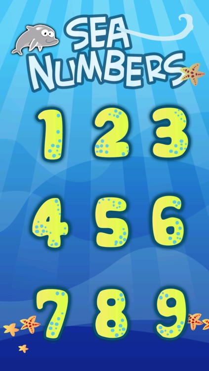 Montessori Sea Numbers - Kids learn by tracing numbers