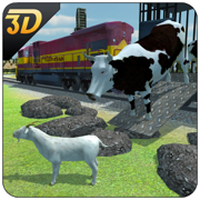 动物运输火车3D - 牛运输车模拟游戏