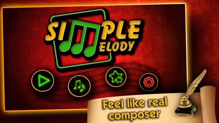 Simple Melody, Feel like a real musician and composer