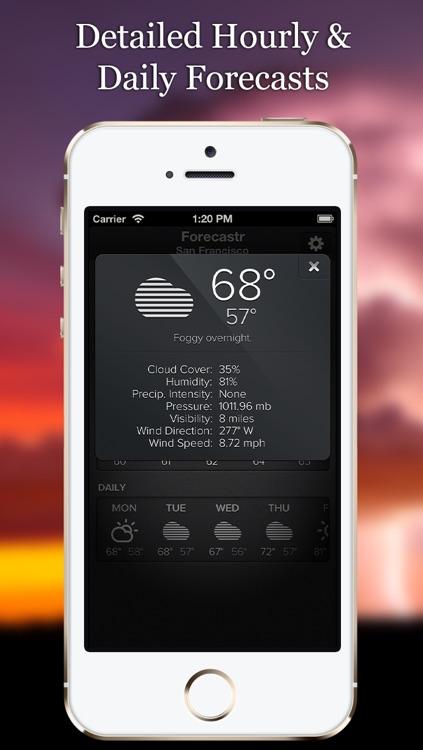 Forecastr Weather Forecasts