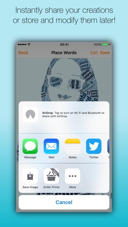 Phoetic - The amazing photo word cloud generator screenshot-4